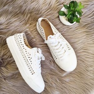 Sam Edelman perforated leather sneakers