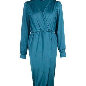 Boohoo Split Sleeve Midi Dress, BNWT, US 8