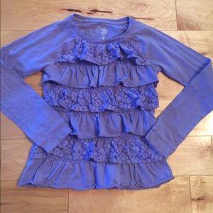 Other - Gorgeous ruffle shirt girls size medium 10/12