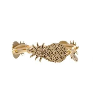 Bourbon and Boweties Gold Pineapple Bracelet