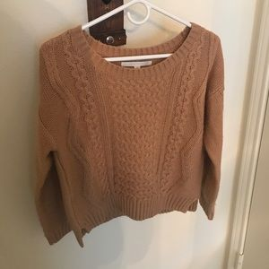 Tan crop sweater