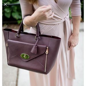 03b6c9e54e ... closeout mulberry bags like new large mulberry willow tote in oxblood  5086d 8a0e9