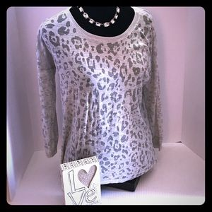 💥💥Gorgeous leopard print shirt in Grey Size M💥