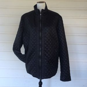 Theory Xlarge Black Quilted jacket - great style