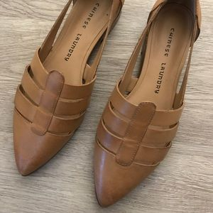 Chinese Laundry Tan Cut-Out Flats