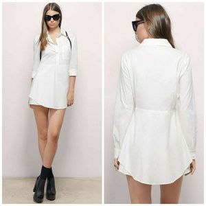 Tobi In The Palm Of My Hand White Shirt Dress