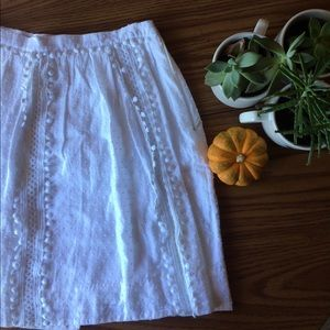 White Eyelet J. Crew Skirt