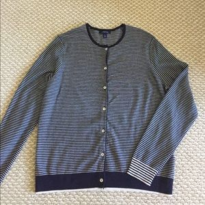 Lands' End cotton blend cardigan