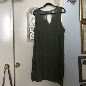 Olive Colored Dress, Crotchet Top, Formal
