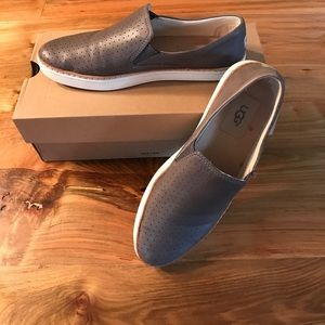 UGG Grey Leather Flats