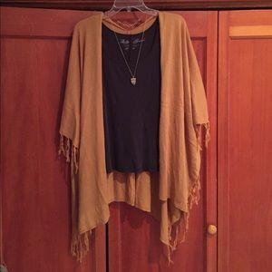 Forever 21 tasseled mustard kimono!
