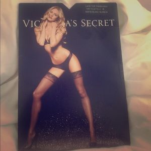 Victoria's Secret thigh high lace top stockings