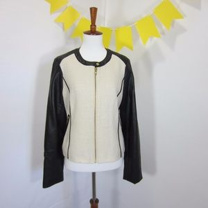 The Limited Leather Sleeves Terry Blazer Black *B8