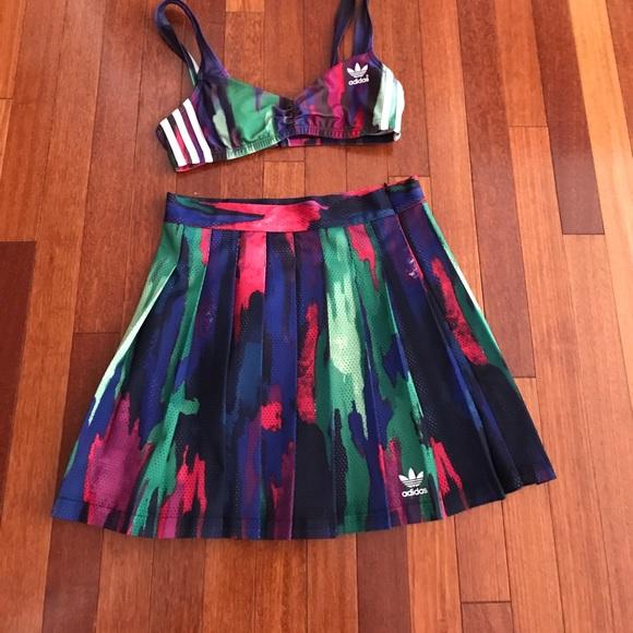 009dc4141bc3f adidas Dresses   Skirts - Adidas Pharrell Williams camo tree bra skirt set