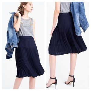 J.crew / micropleated midi skirt in navy