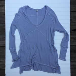 Free People Lavender Thin Sweater Tunic