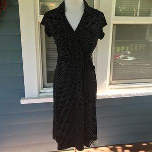 MERONA B&W Polka Dot Faux Wrap Dress