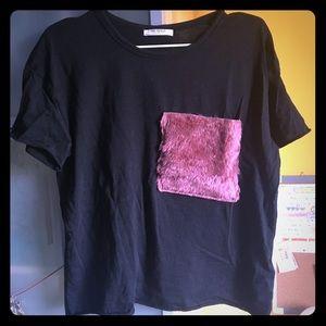 zara fur shirt