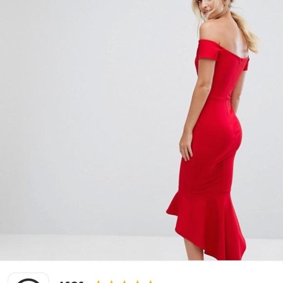 0c5b97e4babe ASOS Dresses & Skirts - ASOS Tall John Zack Off Shoulder Ruffle Midi Dress