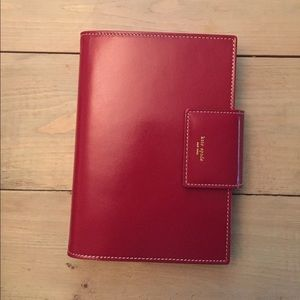 Kate Spade red leather personal planner/organizer