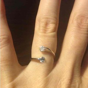 Jewelry - NWOT Unique Sterling Silver & Crystal Ring
