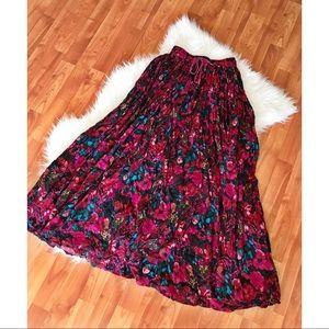 90s Floral Christine Baker Maxi Skirt