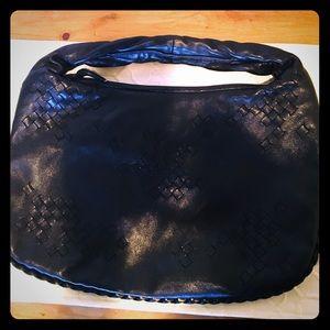 Bottega Veneta black hobo patchwork bag