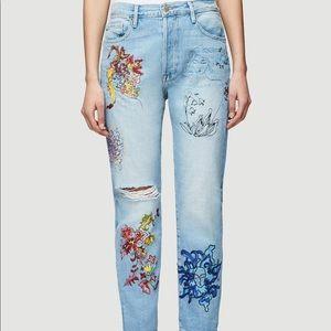 Frame Denim Jeans - Frame Denim Embroidered Jeans NWT