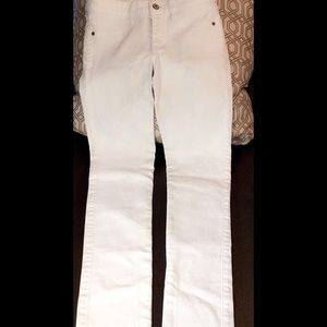 Abercrombie and Fitch White Skinny Jeans