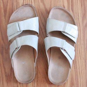 Metallic Silver Old Navy Birkenstock Sandals