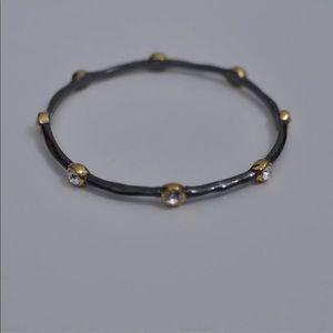 Stella & Dot Black and Gold Bangle Bracelt
