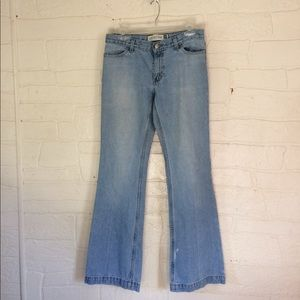 Vintage 90s Faded Flare Leg Jeans GAP Long Lean