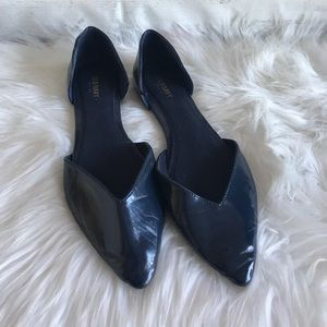 Old Navy blue pointed flats