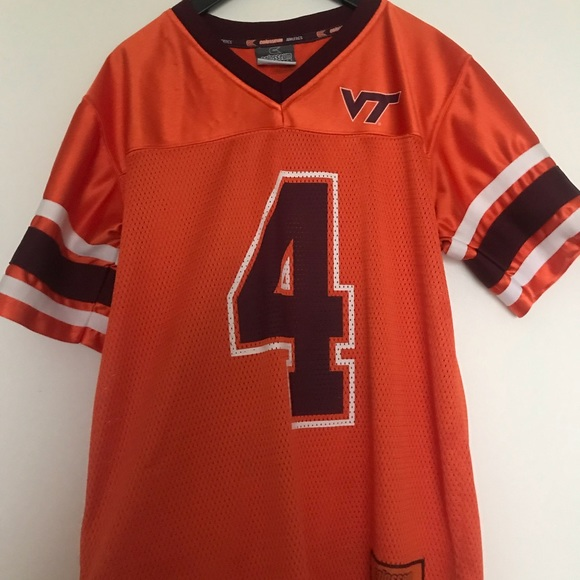 new concept 952f8 dc75b Virginia Tech youth large football jersey