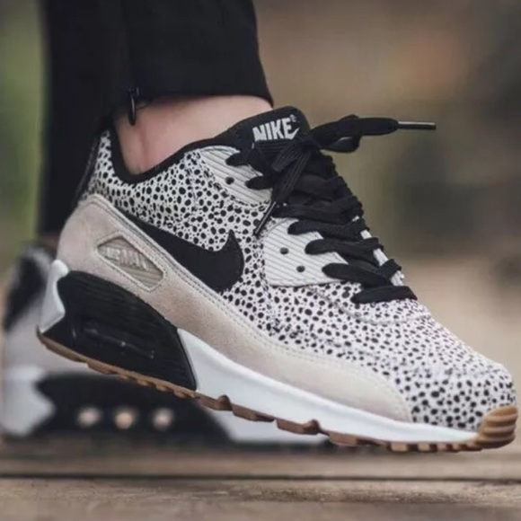Nike Air Max 90 Black & White Dotted Sneakers