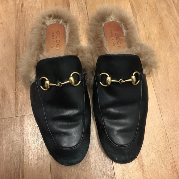 7d9f9aa65 Gucci Shoes | Prince Fur Mules | Poshmark