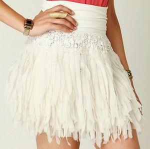 FP One Navy Shredded Chiffon Mini Skirt