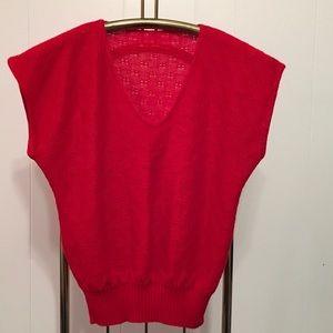 Vintage knit v-neck sweater