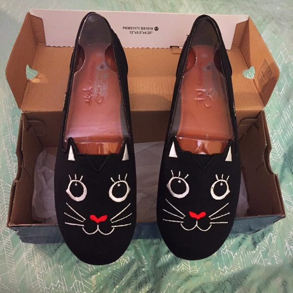 Nwt Skechers Bobs Cattitude Shoes