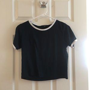 Navy Topshop Tee Shirt