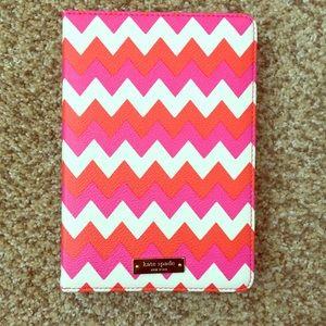 Kate Spade iPad Mini Case w/ Pink & Orange Chevron