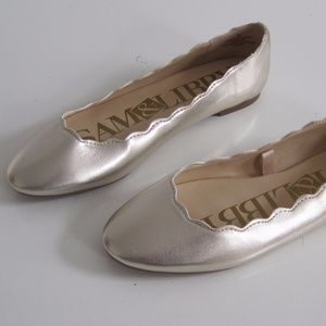 Sam & Libby Shoes Ballet Flat Gold Capri  Scaloop