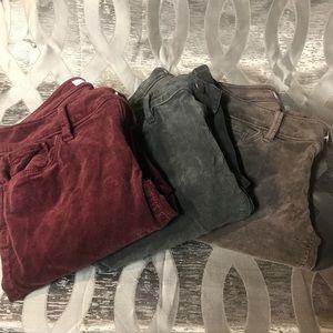 Bundle of loft corduroy pants in size 00 petite