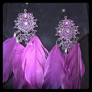 Jewelry - Beautiful Purple Chandelier Earrings