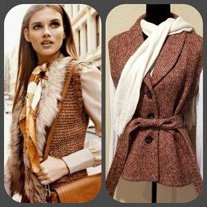 Classic vintage 60s Pendleton belted tweed vest