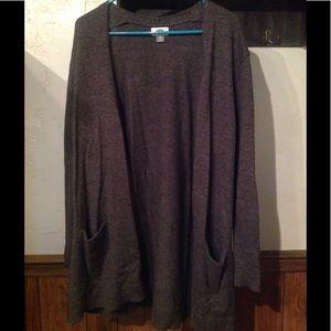 Old Navy Cardigan Size XL Dark Gray