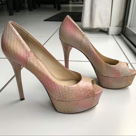 a48fa6c0036 B Brian Atwood Snakeskin Pumps