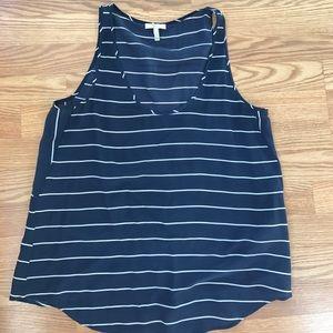 Joie silk striped tank size medium
