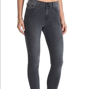 <J Brand> Bree Skinny High Rise Jeans Night Bird