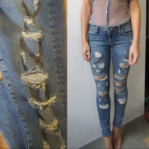 One Teaspoon luxury torn chain denim 26